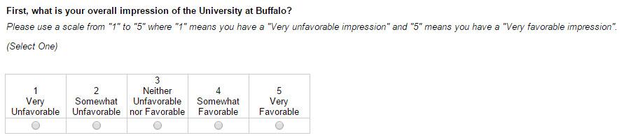 ub survey 1