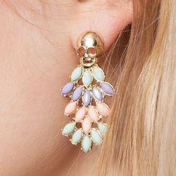 """Pastel Skull Earrings, <a href=""""http://www.pixiemarket.com/accessories/pastel-skull-earrings.html"""">$11</a> at Pixie Market"""