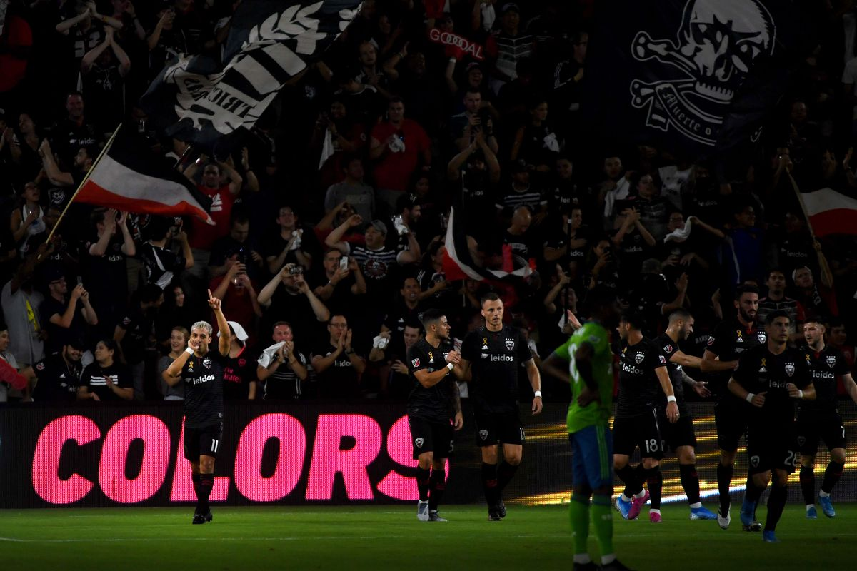 Major league soccer match between the D.C. United and the Seattle Sounders