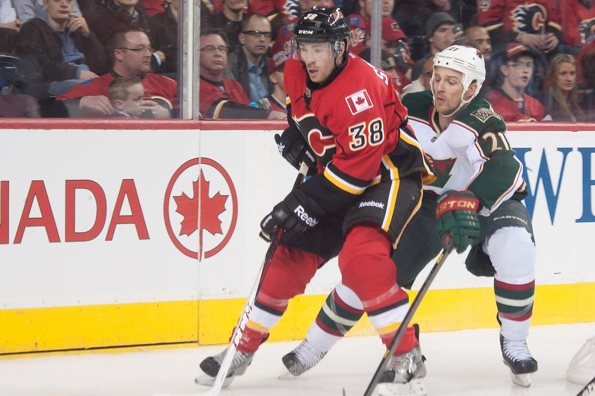 Former Badger Ben Street is fighting for a roster spot with the Calgary Flames.