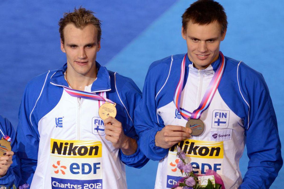 Ari-Pekka Liukkonen, right, has come out as gay.