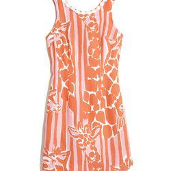 'Giraffeeey' shift dress, dress, $38, 2-18, 14W-26W (plus-size online only)