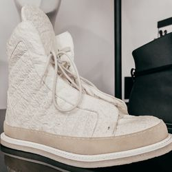 """Rombaut Quilted Sneakers, <a href=""""http://odd-style.com/mens/shoes/quilted-sneaker"""">$1015</a>"""