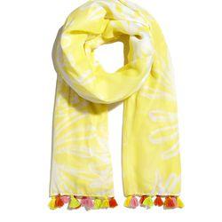 'Pineapple Punch' tassle scarf, $20