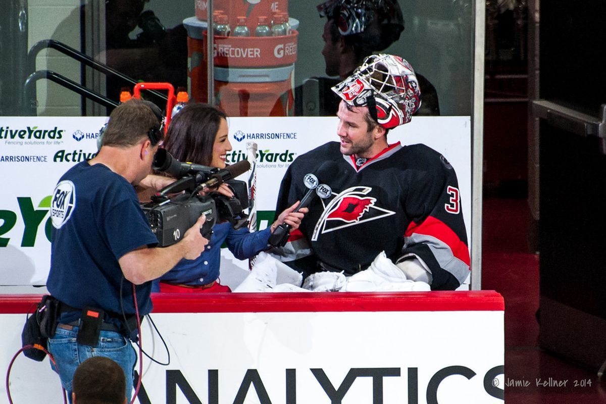Cam Ward was the first star in Carolina's shutout win over the Coyotes, earning a shutout to give the Hurricanes their first win of the season. Ward has won three straight and is looking for four Friday vs. Columbus.
