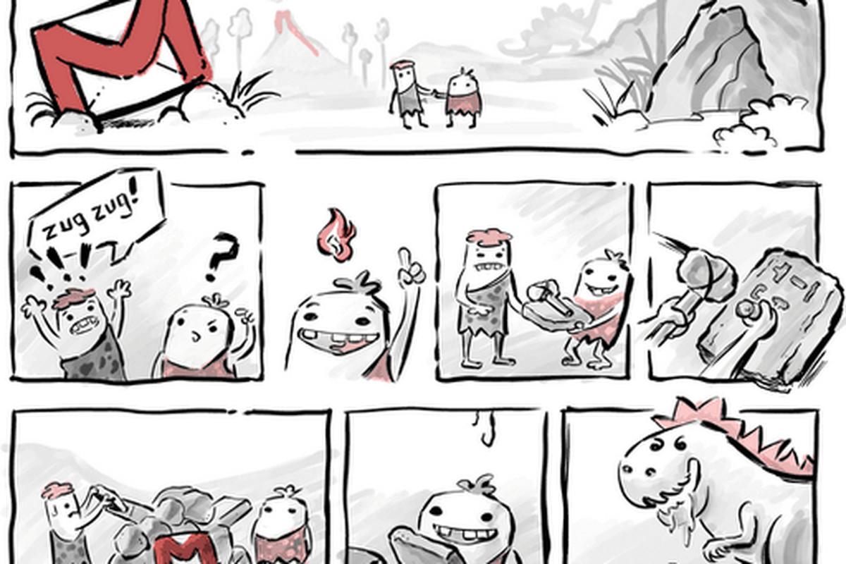 Gmail translation comic