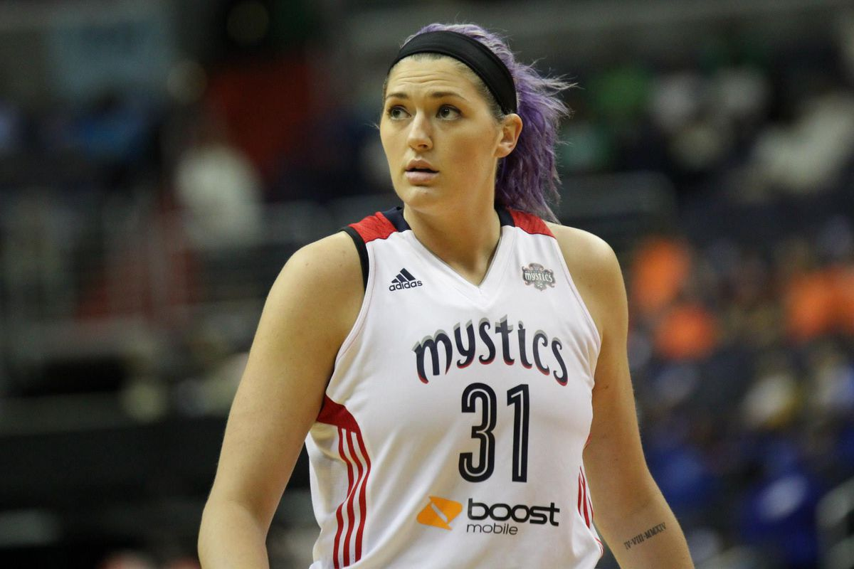 Stefanie Dolson has been a bright spot for the Mystics despite their loss to the Liberty last Thursday.