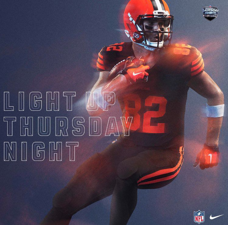 5d519eb5cf8 The Cleveland Browns Twitter has already said they won't be wearing their  color rush due to brown-purple color contrast. Instead, they'll be wearing  all ...