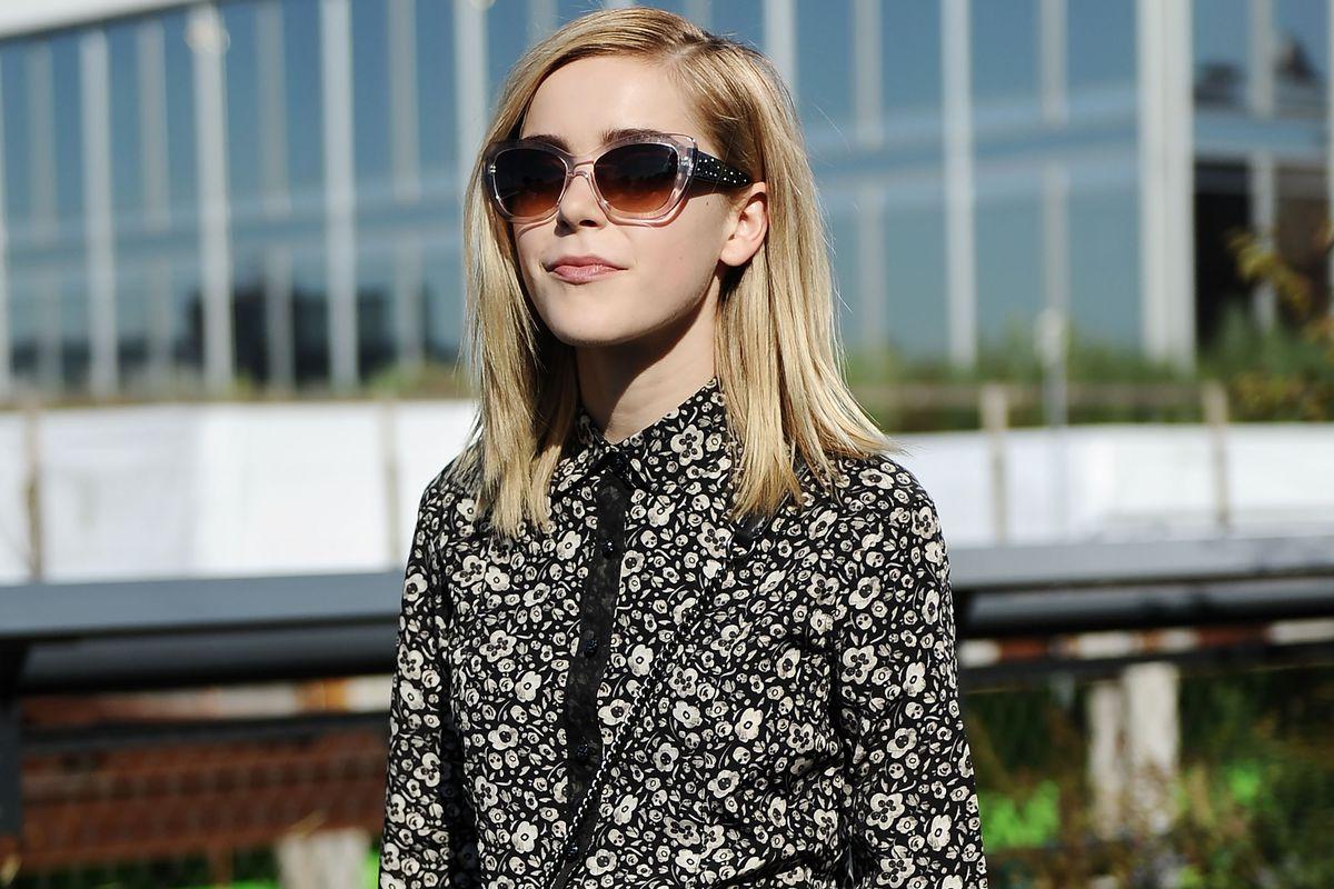 Kiernan Shipka in sunglasses