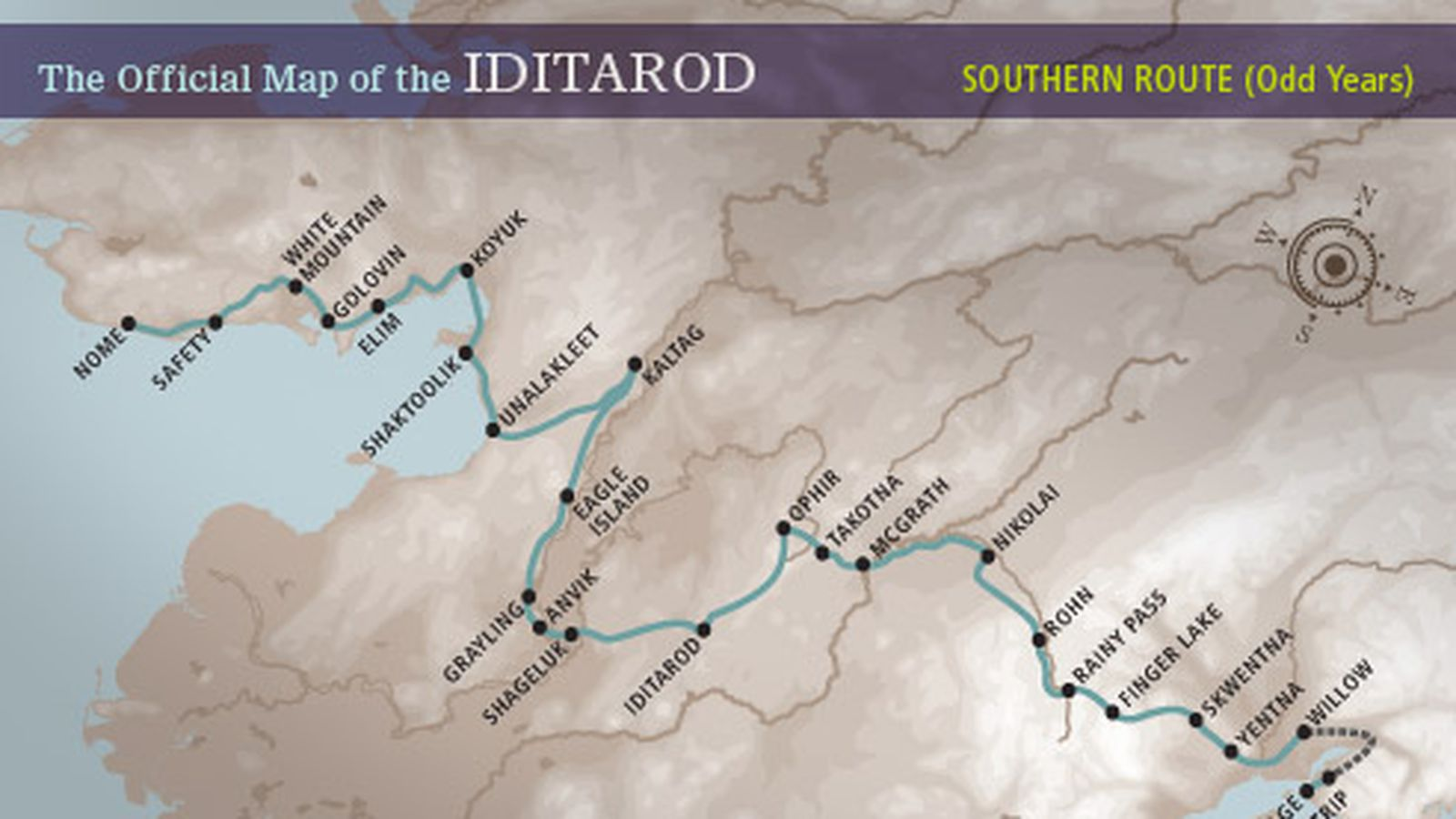iditarod 2013 trail map takes mushers on southern route