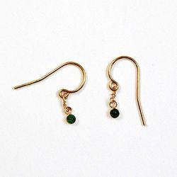 """Green Dot Earrings, <a href=""""http://www.achengshop.com/products/green-dot-earrings"""">$70</a> at A Cheng"""