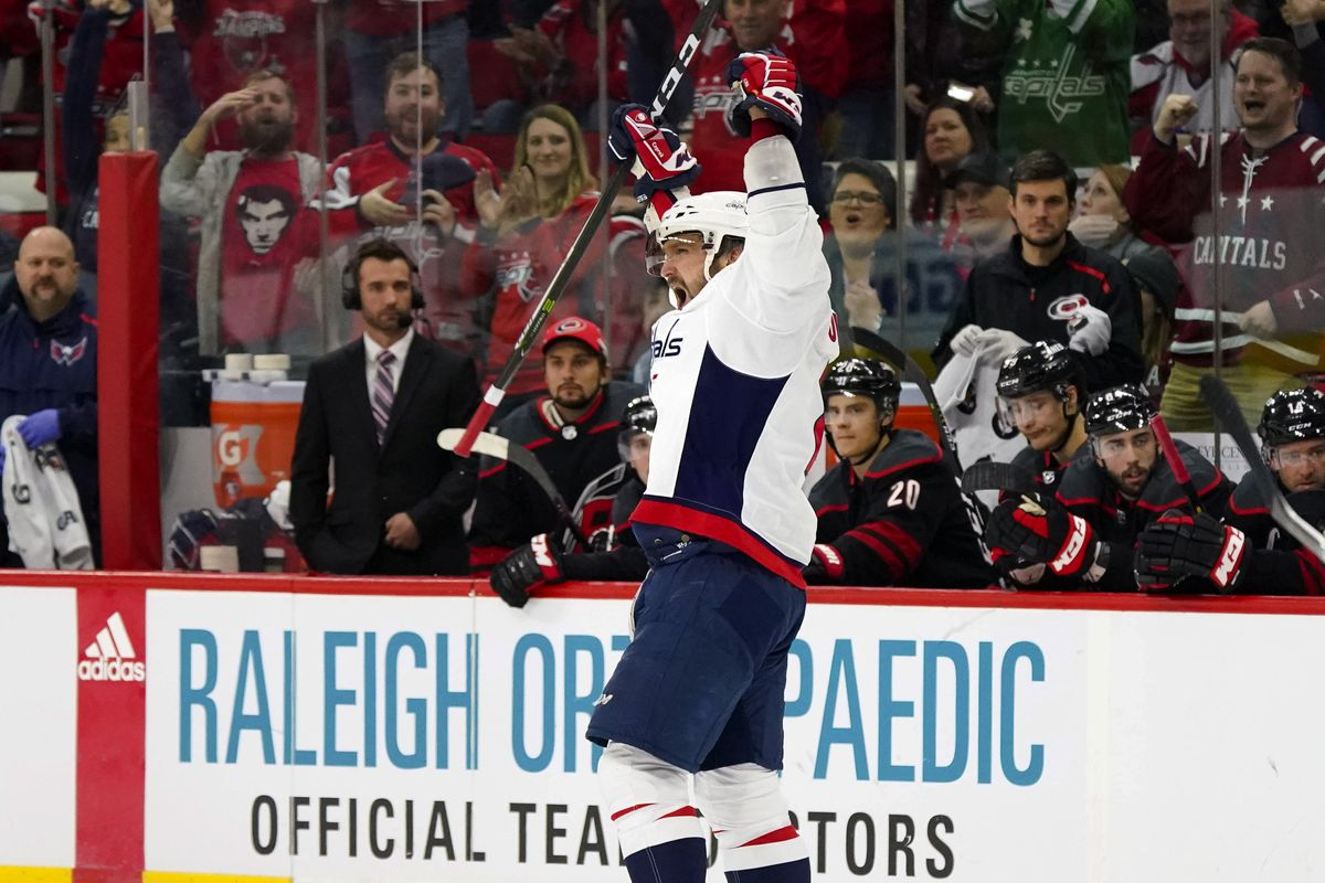 67c1570f8f1 Alex Ovechkin Notches 22nd Career Hat Trick - Japers  Rink