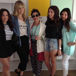 Marcus Paglialonga's ultra-stylish mom (center) with Who What Wear's associate beauty editor Lexy Lebsack, Tobruck Ave blogger Kiara Schwartz and fashion fan Dina Darwish.