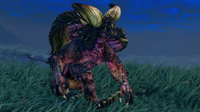 """The """"Nergigante"""" alternate skin for Blanka in Street Fighter 5 Arcade Edition, which depicts the bestial fighter as a dragon from Capcom's Monster Hunter series."""