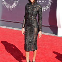 Chanel Iman breaks new, interesting ground in a leather doily.