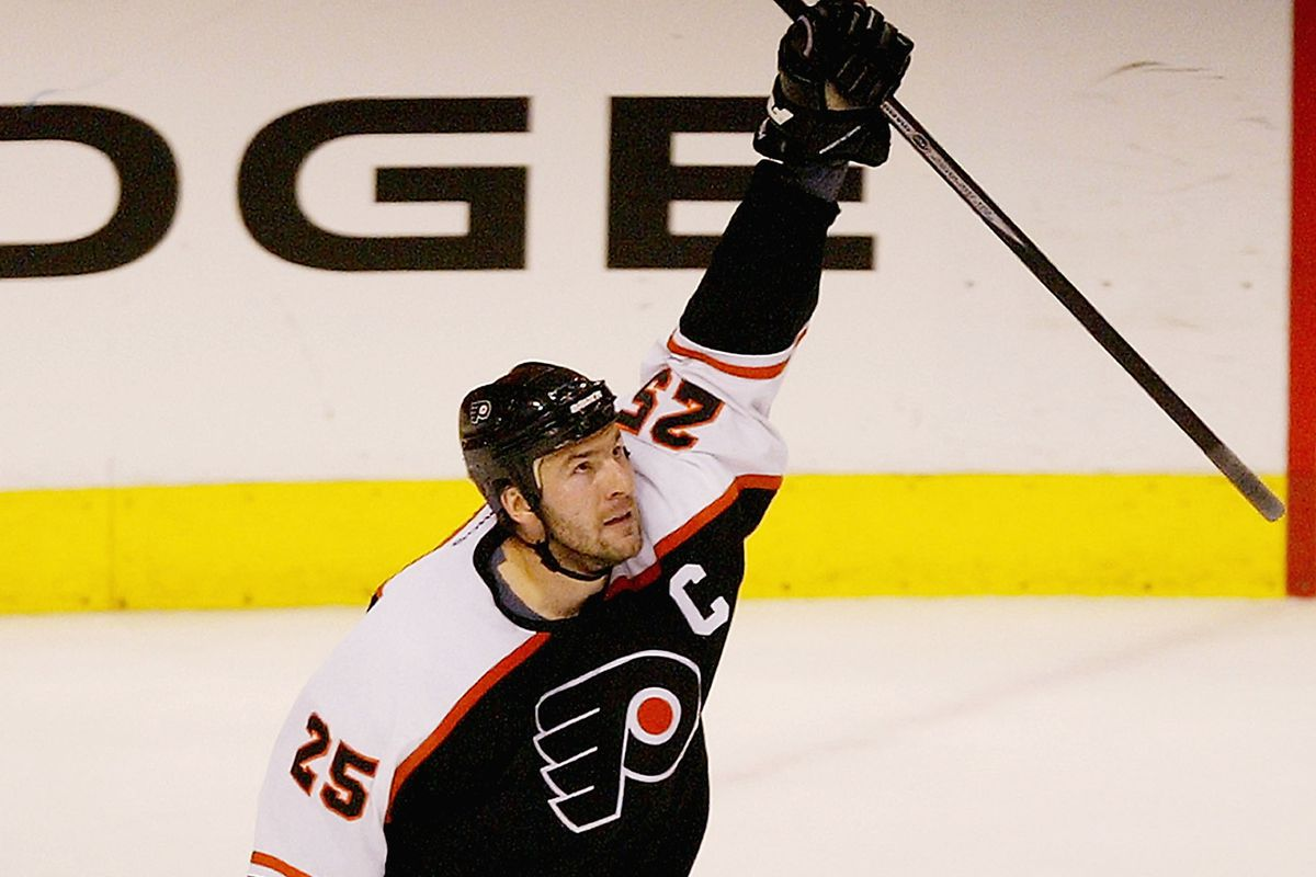 Today in Philadelphia Flyers history  Lindros puts  hat  in ... df5f659a4