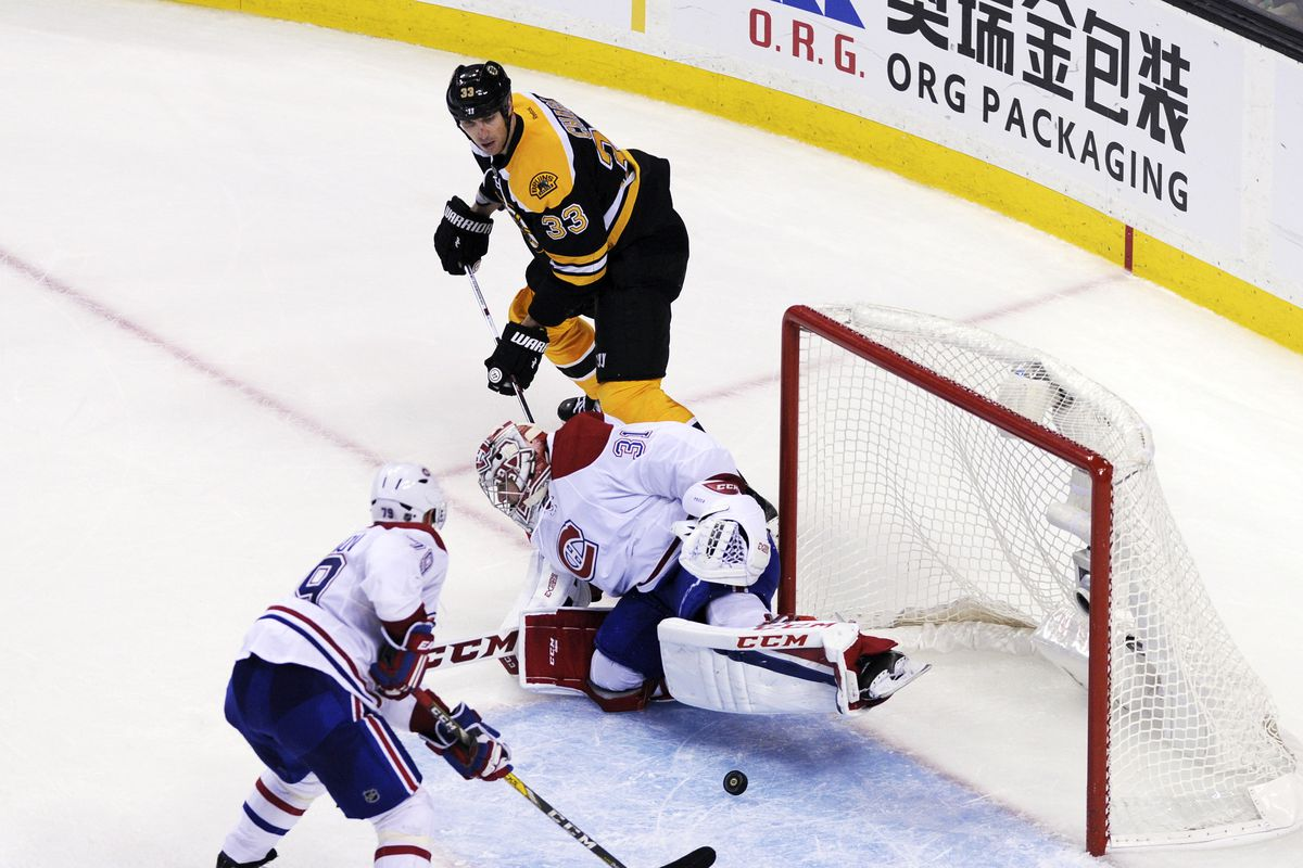 A little more to the right, please? (Zdeno Chara)