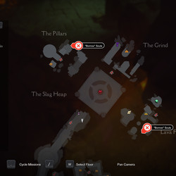 The four Soul capsules in The Slag Pit