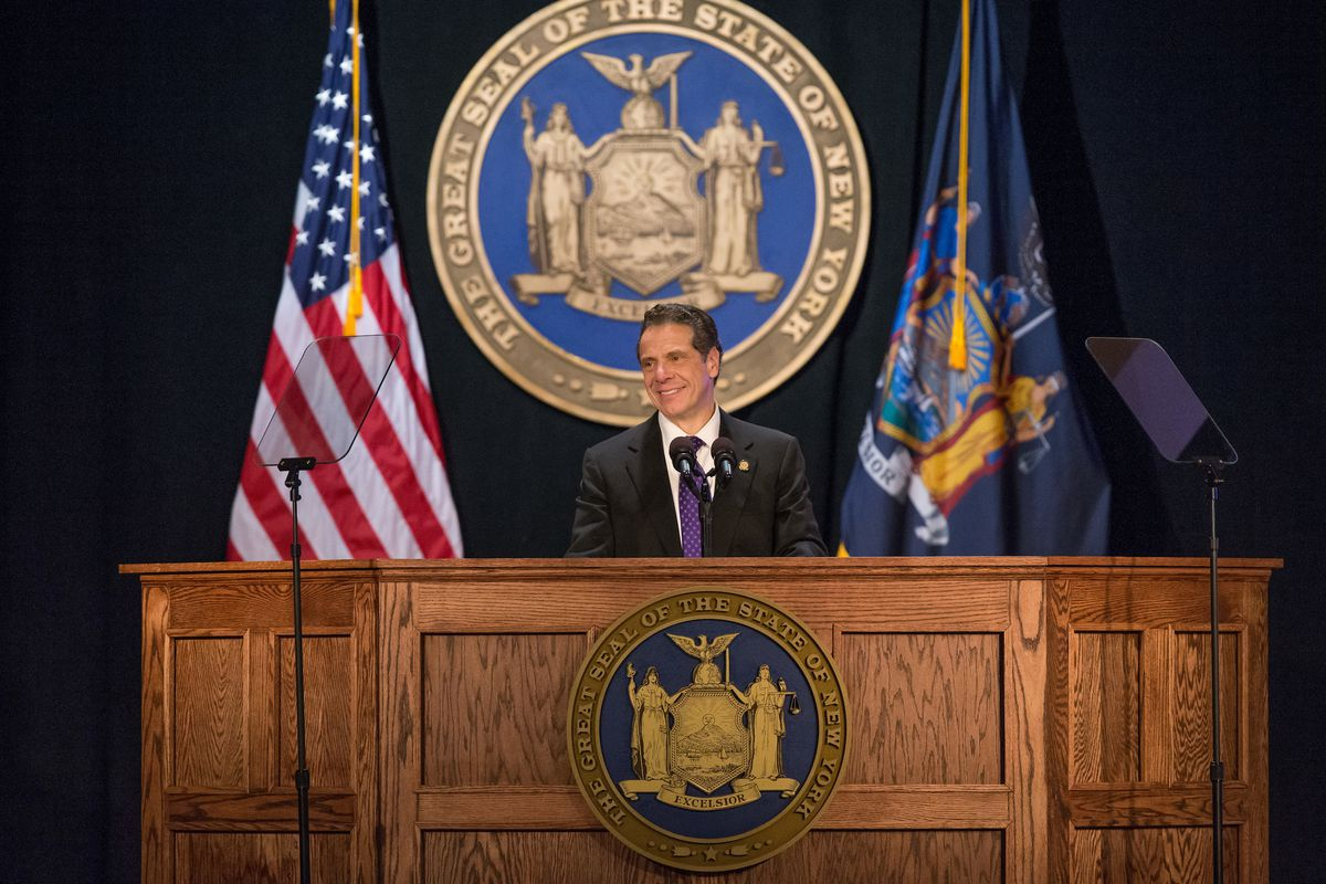 Governor Andrew Cuomo during his 2018 State of the State address.