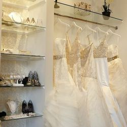 """In the Gold Coast, <a href=""""http://www.bellabianca.com/b_sarehnouri.html"""">Bella Bianca Bridal Couture</a> [12 West Maple Street] is owned by a team of sisters: Melissa Russell and Natalie Bauer. Inspired by their own experiences shopping for the perfect f"""