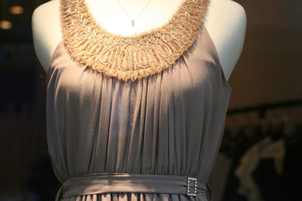 "Neckline detail on a Szeki dress via <a href=""http://www.flickr.com/photos/31418704@N02/4426437483/in/pool-312691@N20"">cherrypatter</a>/Racked Flickr Pool"