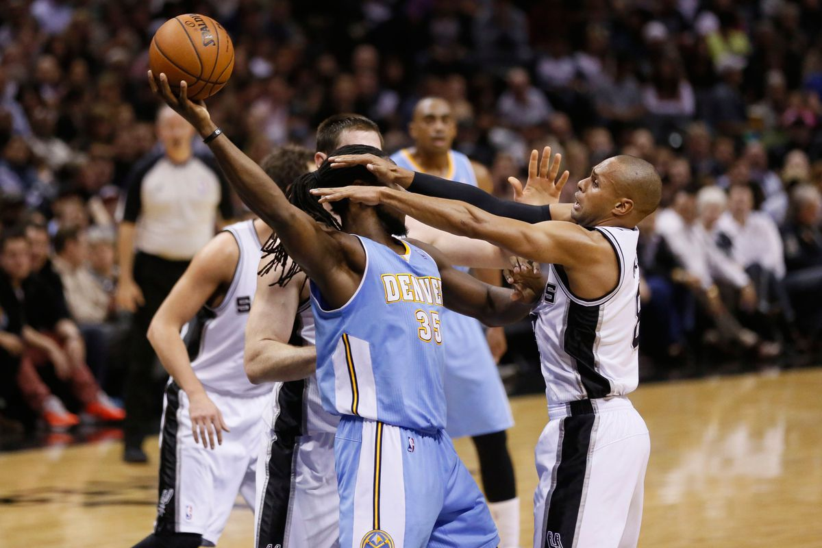Kenneth Faried not getting fouled.