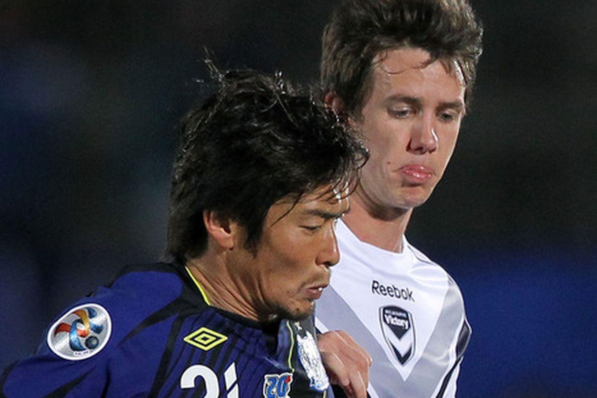 Kaji in AFC Champions League action.