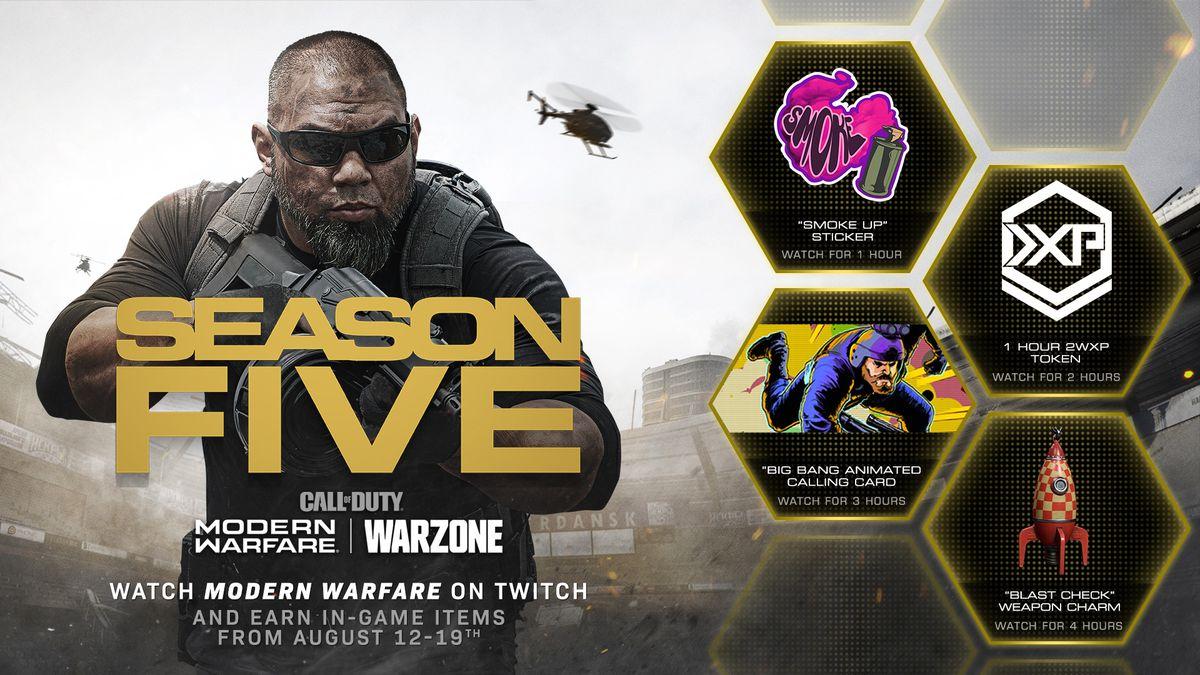 Rewards Call of Duty: Modern Warfare and Warzone Twitch