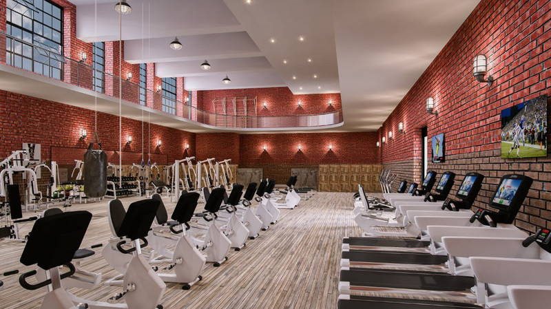 A Rendering Reveals The Schools Original Gym That Will Be Restored And Used As Fitness Facility Courtesy Of West Lofts