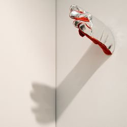 Fireman's Glove with Photograph by Roman Signer