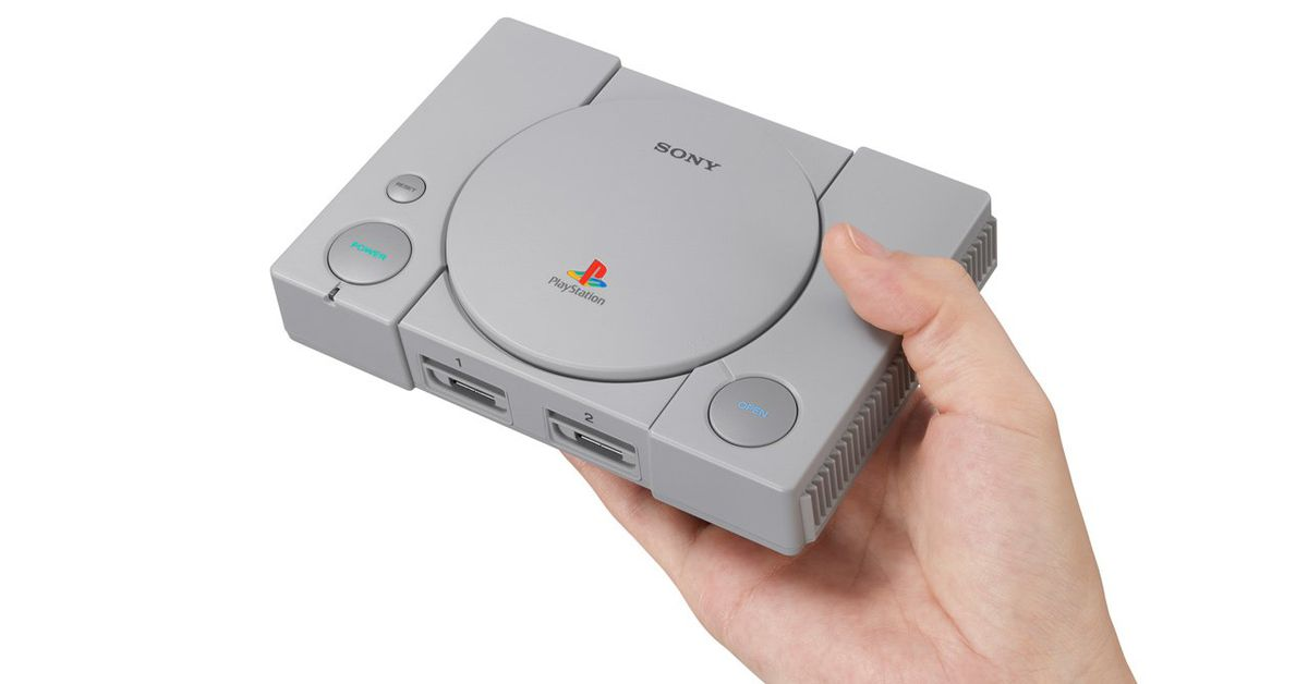 Sony announces PlayStation Classic, available for $99.00 with 20 games pre-loaded.