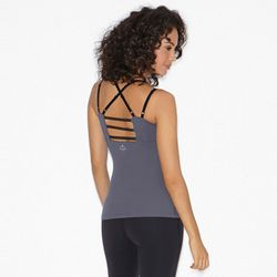 """Beyond Yoga Mesh and Match Cami in Steel, <a href=""""http://www.beyondyoga.com/tops/camis/mesh-and-match-cami.html?color=steel"""">$77</a> (more colors available)"""