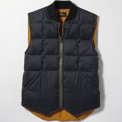"""<strong>L.L. Bean Signature</strong> Quilted Vest in Navy, <a href=""""http://www.llbean.com/llb/shop/77323?feat=vest-SR0&page=quilted-vest"""">$89</a>"""
