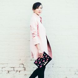 """Chriselle of <a href=""""http://thechrisellefactor.com""""target=""""_blank"""">The Chriselle Factor</a> is wearing an Express <a href=""""http://www.express.com/clothing/wool+blend+cocoon+coat/pro/8942739/cat320021""""target=""""_blank"""">jacket</a> and top, <a href=""""http://sh"""