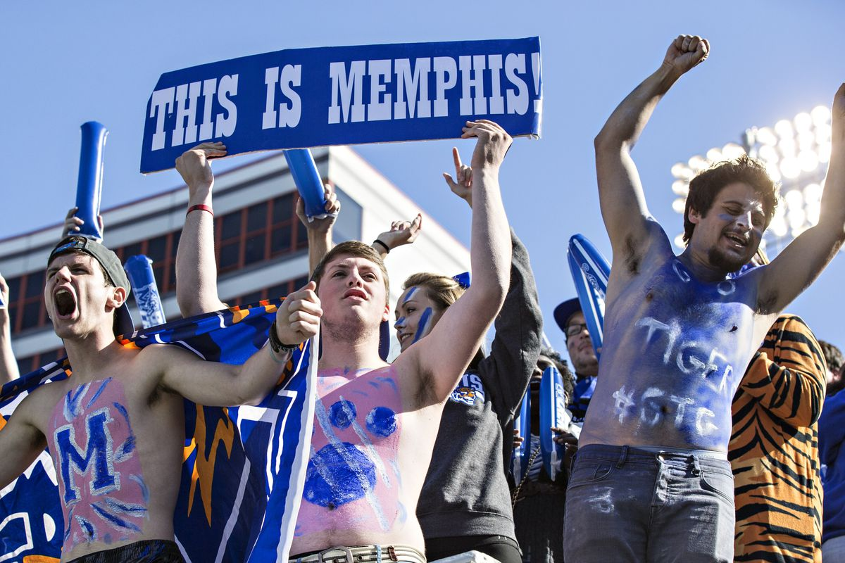 Memphis fans celebrate as the Tigers rout Ole Miss
