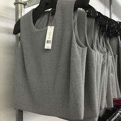 Yuranda crop top in grey, $89 (was $195)