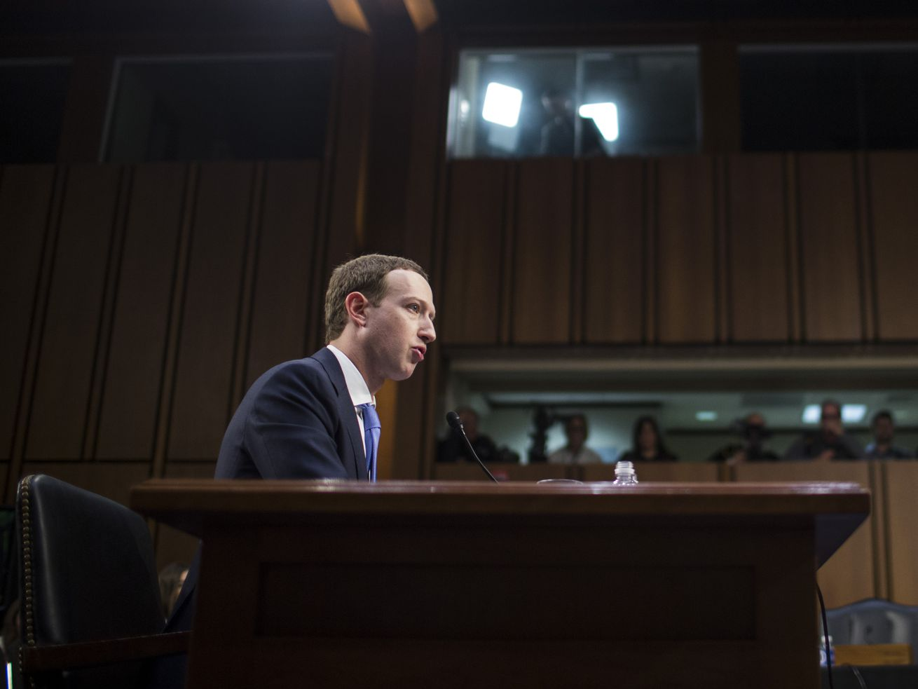 Facebook CEO Mark Zuckerberg testified to the Senate on Capitol Hill on April 10, 2018.