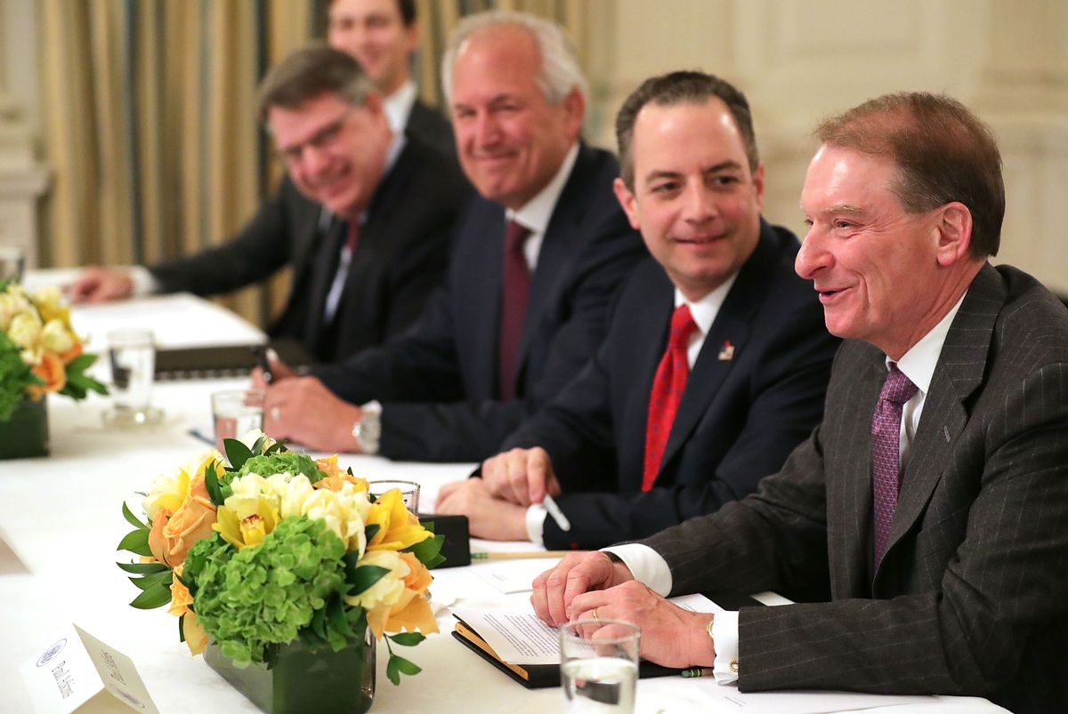 President Trump Holds Policy Forum With Business Leaders