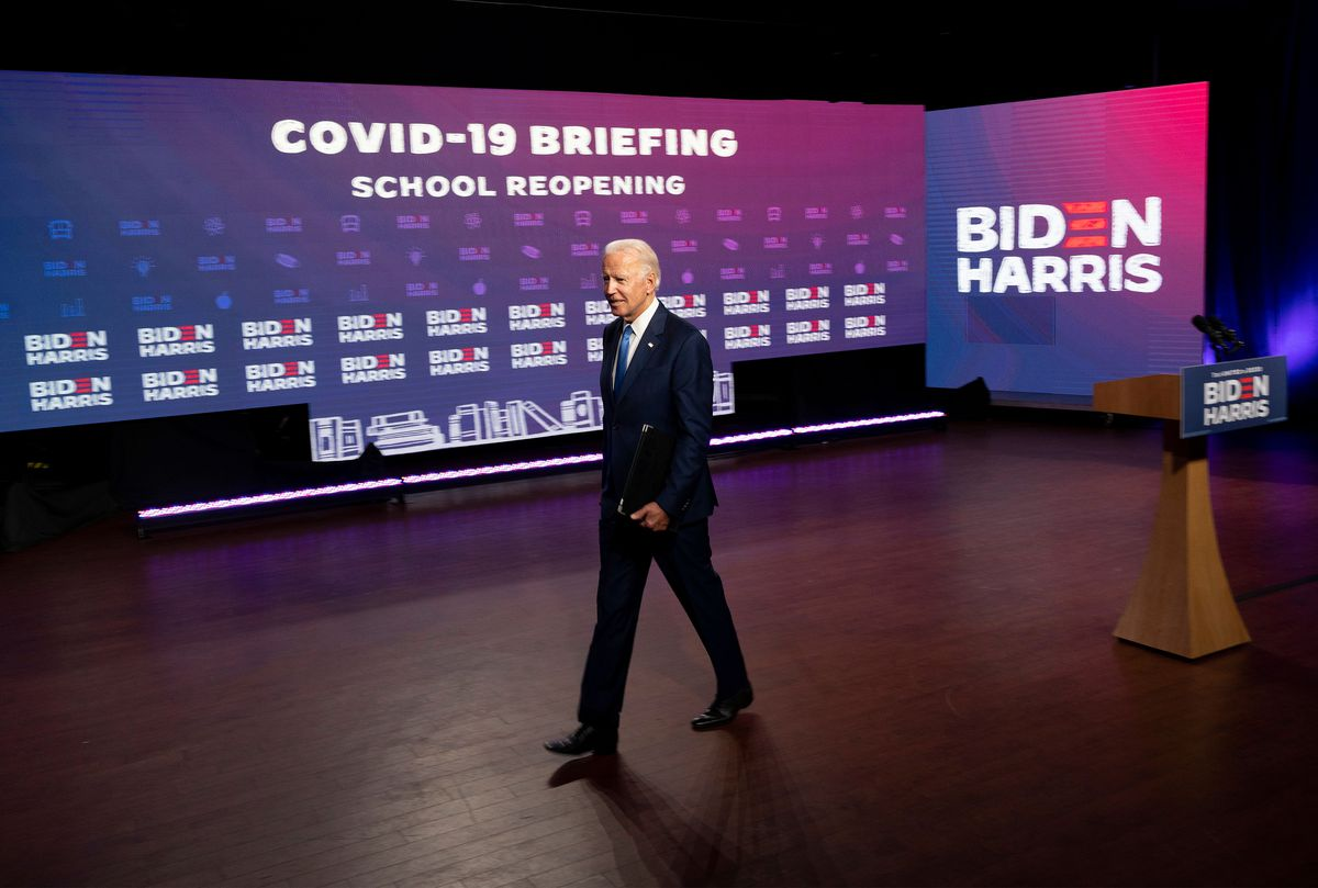 Joe Biden spoke about reopening schools in September 2020.