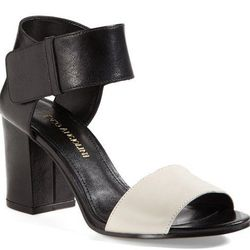 """<b>Enzo Angiolini</b> Gwindell Sandal in Black/Ivory, <a href=""""http://shop.nordstrom.com/s/enzo-angiolini-gwindell-sandal/3578088?origin=category-personalizedsort&contextualcategoryid=0&fashionColor=&resultback=6685&cm_sp=personalizedsort-_-browseresults-"""