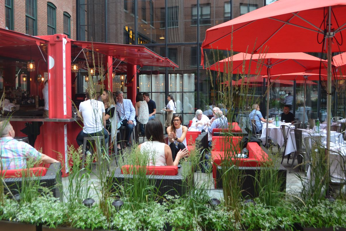 The new shipping container bar at Cinquecento in Boston's South End