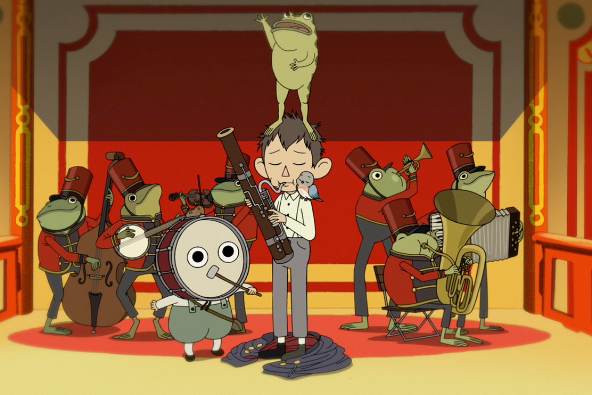 Over the Garden Wall: Wirt, Greg, and the frog band