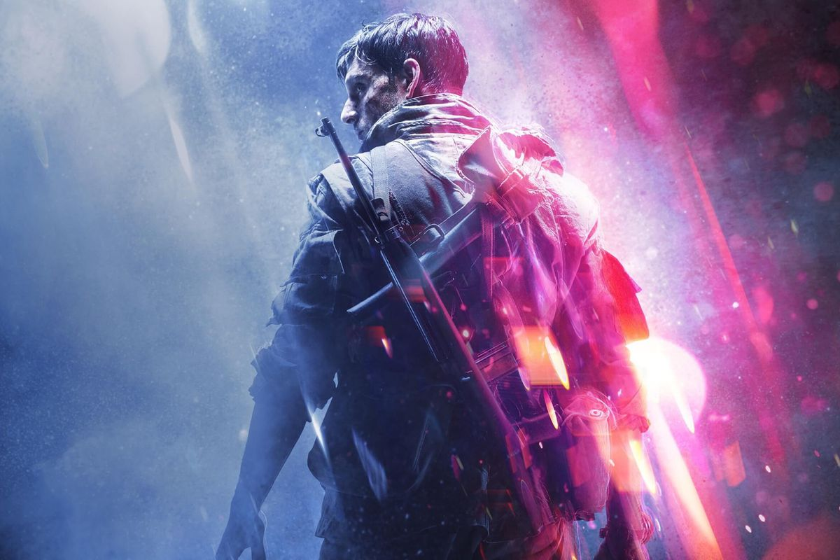 Artwork of a soldier from Battlefield 5