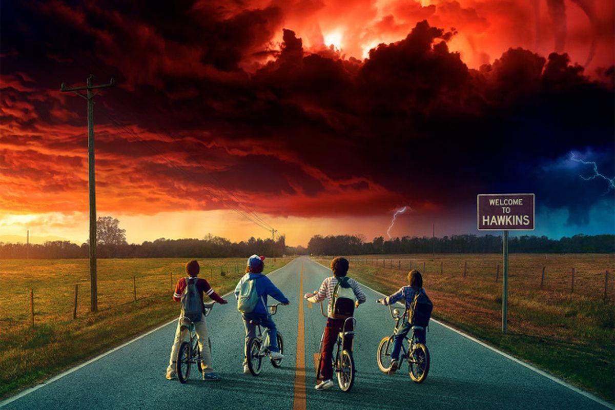 The poster for Stranger Things season two.