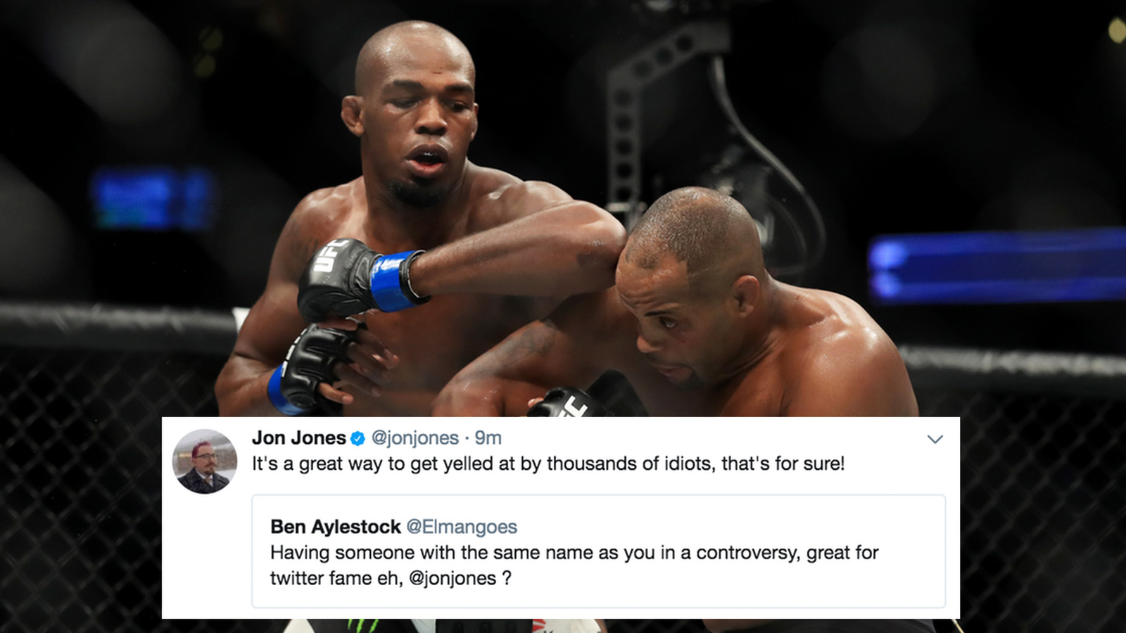 UFC fans are tagging the wrong Jon Jones on Twitter and this dude is LOVING IT