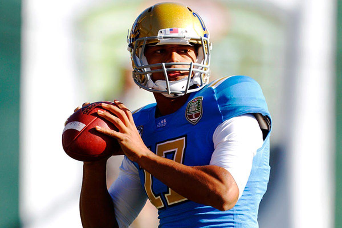 UCLA's offense now falls on his shoulders.  (Photo Credit: Jason O. Watson/US Presswire)