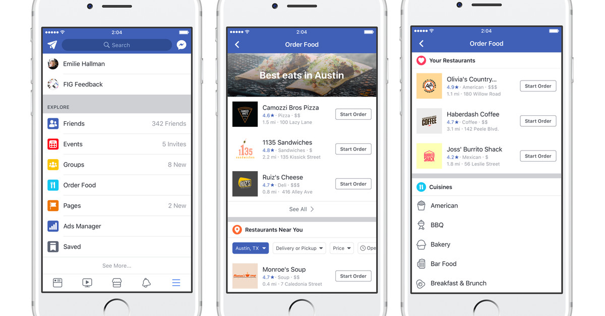 Facebook Launches Massive Restaurant Delivery Database