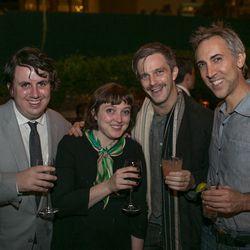 Eater NY's Greg Morabito, Amy Sather, Jonathan Rubenstein of Joe, and friend