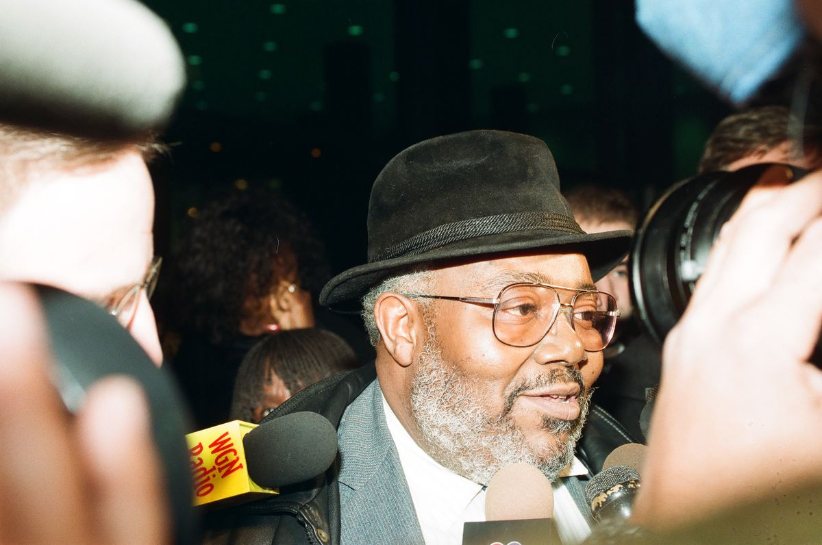 Ald. Virgil Jones (15th) at the federal building in 1999.