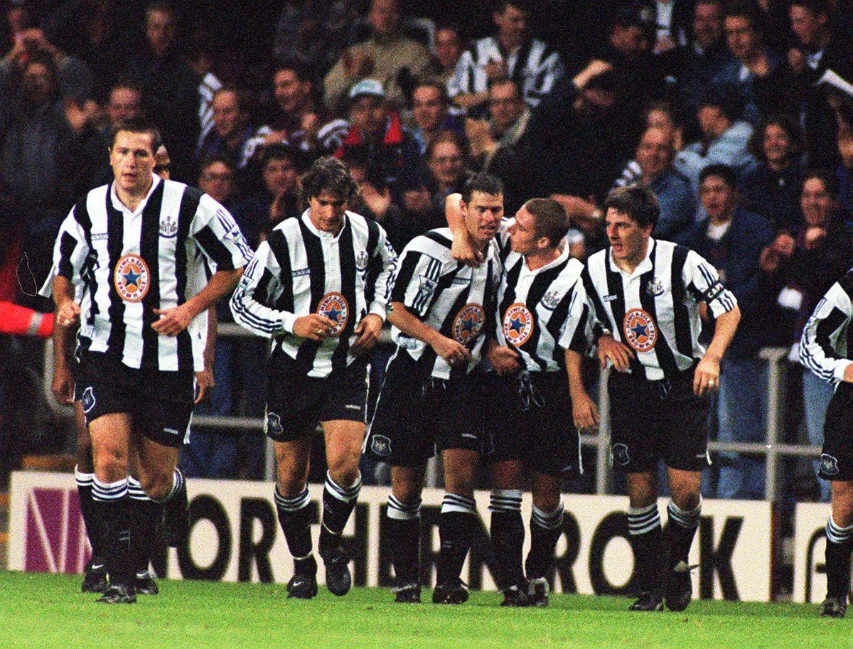 SOCCER Newcastle celebrate